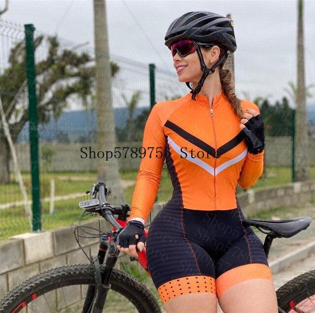 2020 ciclismo skinsuit pro macacão roupas femininas manga longa macacão triathlon bodysuit meninas bicicleta macaco feminino ciclismo terno 1