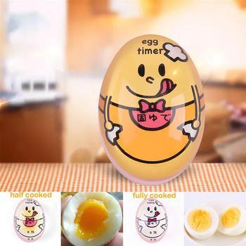 1 sztuk jaj idealny kolor zmiana zegar pyszne miękkie jajka na twardo gotowanie kuchnia ekologiczne żywica Timer w kształcie jajka śliczne timera narzędzia kuchenne tanie i dobre opinie Beep jaja Z tworzywa sztucznego Zaopatrzony Other Blat przenośne 6037433