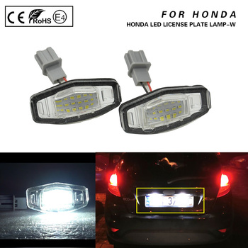 For Honda Civic Accord Civic Sedan/hatchback MK4 Odyssey MR-V/Pilot Acura MDX RL TL TSX RDX ILX License Plate LED Lights Lamp 2X image