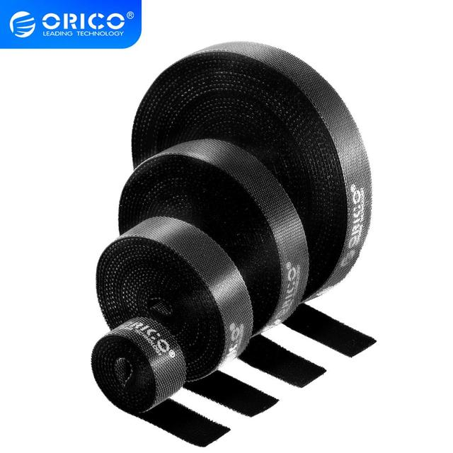 ORICO USB Cable Organizer Digital Cable Holder Wire Management Ties Hoop Stick Tape for PC Laptop Mouse Phone Cord