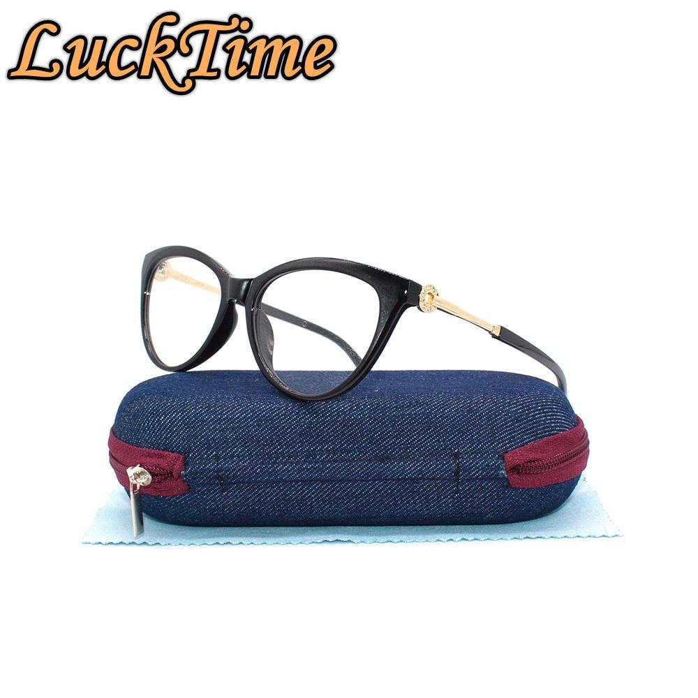 LuckTime New Fashion Women's Eyewear Frame Exquisite Lady Myopia Glasses Women Eye Frame Lucky Time Prescription Glasses #1876