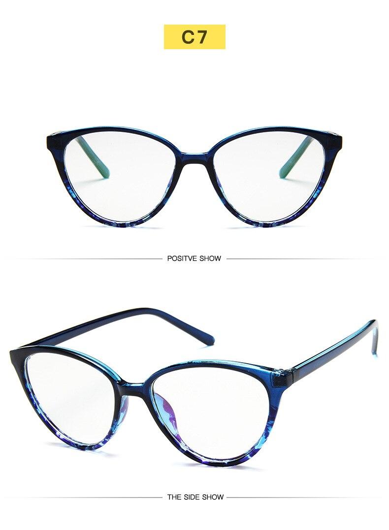 New Retro Cat Eye Women Glasses Frame Anti Blue Light Lady Eyeglasses Frame myopia Vintage Clear Glasses Optical Spectacle Frame (13)