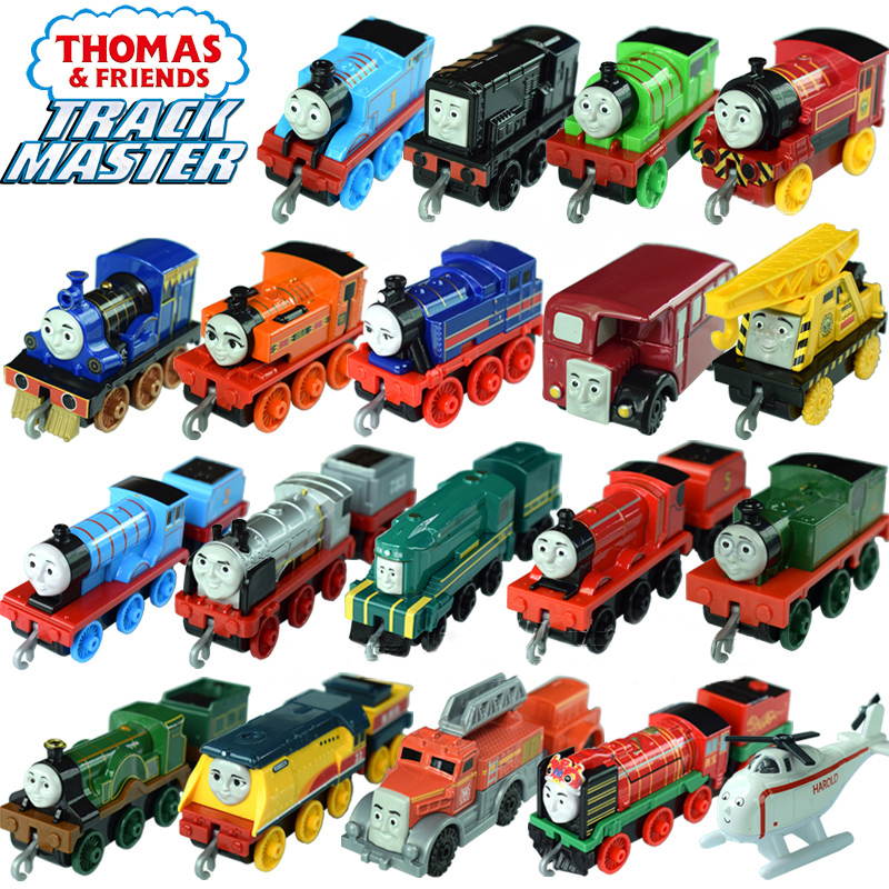 3-4pcs Thomas And Friends Trains Hot Tomas Metal Magnetic Trains Miniatura De Carro Diecast Model Kids Jouets Pour Enfants Gift