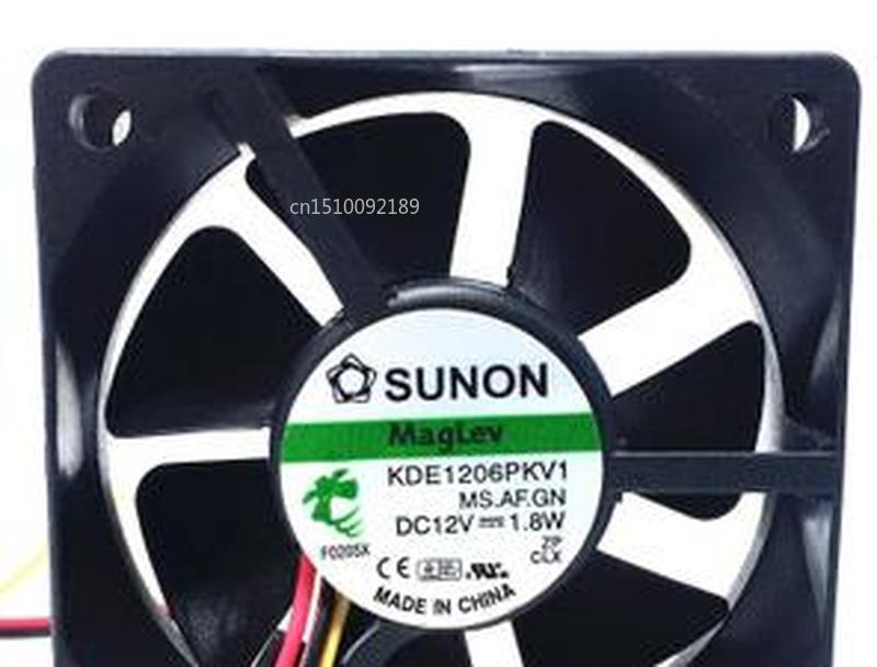 For KDE1206PKV1 MS.AF.GN DC 12V 1.8W 3-Wire 60x60x20mm Server Cooler Fan Free Shipping