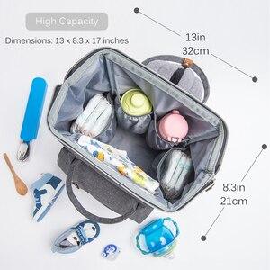 Image 5 - Набор сумок для подгузников для мам, модный многофункциональный дорожный рюкзак для мам, вместительные водонепроницаемые сумки для подгузников для мамы, 2020