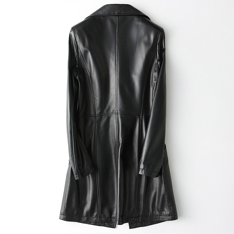2020 Long Genuine Jacket Women Spring Autumn Sheepskin Coat Real Leather Jackets Slim Fit Jacken Damen KQN62624 KJ3584