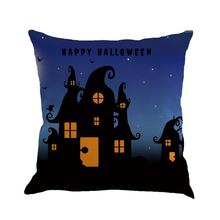 4 Patterns Halloween Cotton Linen Fabric Cushion Covers Digital Printed Home Decorative Square Pillowcase 45*45cm Drop Shipping(China)