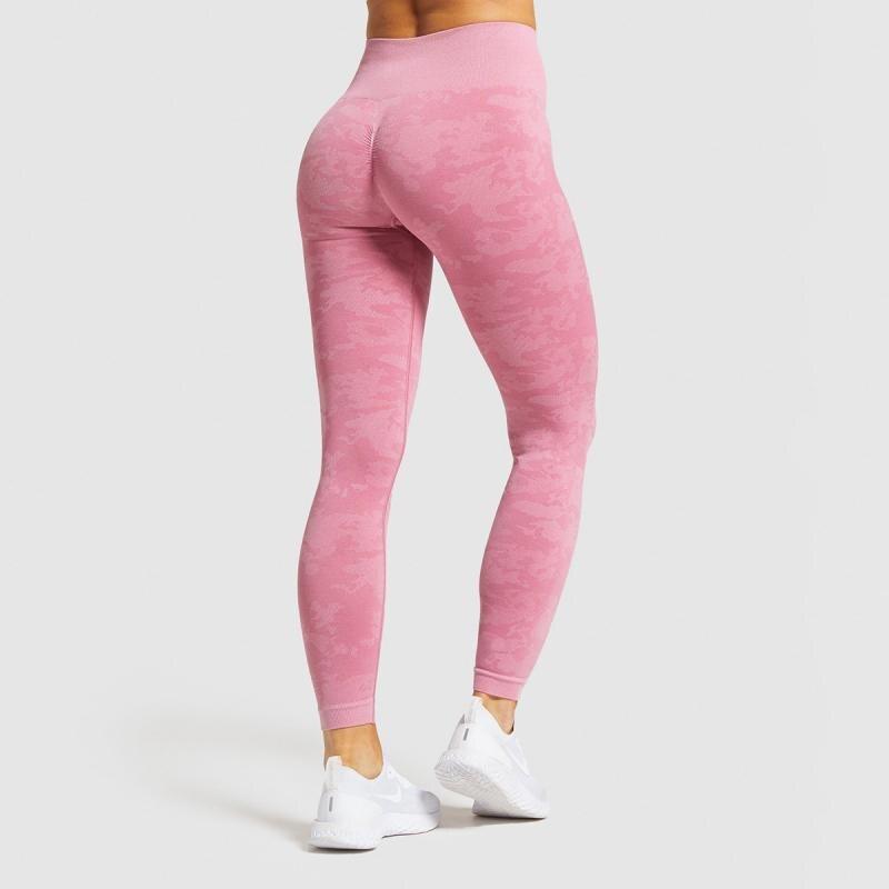 SVOKOR Camouflage High Waist Leggings Women Workout Camo Push Up Leggings Seamless Fitness Clothing Gym Pants Female