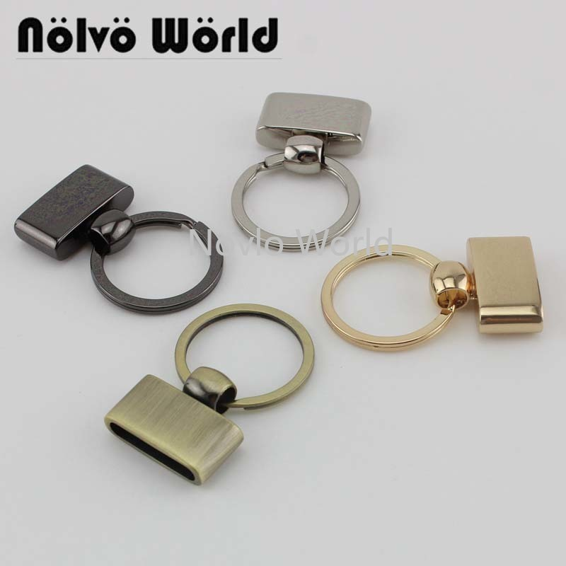 10pcs 5 Colors 45X27mm T-shape Key Fob With 24mm Split Key Rings,Key Fob Hardware Keychain Accessories Key Fob