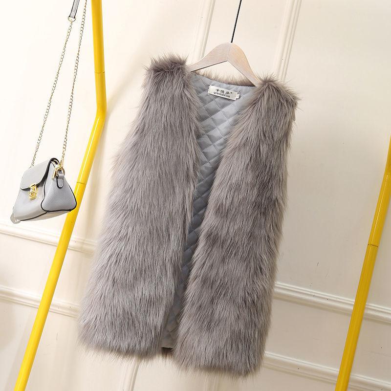 Big Size 4XL Faux Fur Coat Women Fashion Elegant Sleeveless Luxury Vest Woman Casual Slim Luxury Thick Warm Fur Jacket Winter