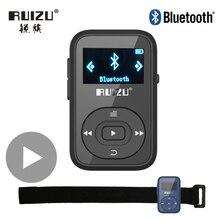 Ruizu LCD 스포츠 오디오 미니 블루투스 Mp3 플레이어 음악 오디오 Mp 3 Mp 3 라디오 디지털 Hifi 하이파이 스크린 Fm Flac Usb 8GB 클립