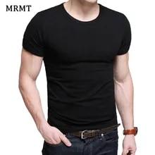 Men's T-Shirt Clothing Short-Sleeve Slim Lycra Solid-Color O-Neck MRMT Man