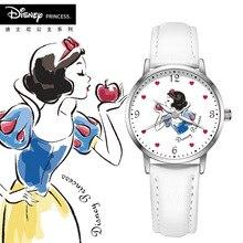 Disney brand child girls wristwatches quartz genuine leather children watch wate