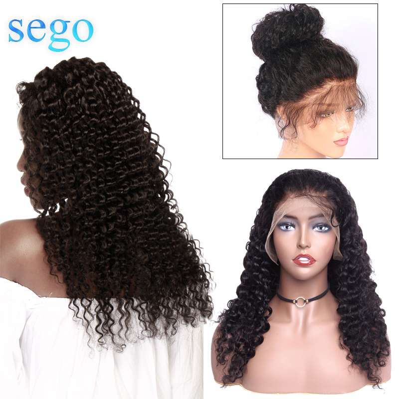 SEGO Deep Wave 360 Lace Frontal Wigs Brazilian Hair Wig For Black Women Pre Plucked With Baby Hair Non Remy Hair Human Hair Wigs