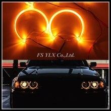 Projecteur yeux d'ange pour BMW, anneau halo DRL, LED mm, jaune ambre, pour voiture E46, E39, E38, E36, phare LED, 131, SMD, LED