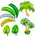 1 шт. кокосовой пальмы пальмовых листьев воздушный шар Globos летние Bbeach принадлежности для тематической вечеринки одежда для свадьбы, дня рож...