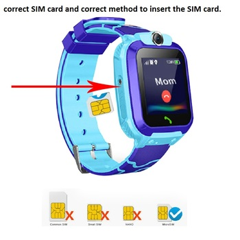 Q12 Kids Smart Watch SOS Phone Watch Smartwatch Kids 2G Sim Card Smart Phone IP67 Waterproof Children's Smart Watch Gift Clock 6