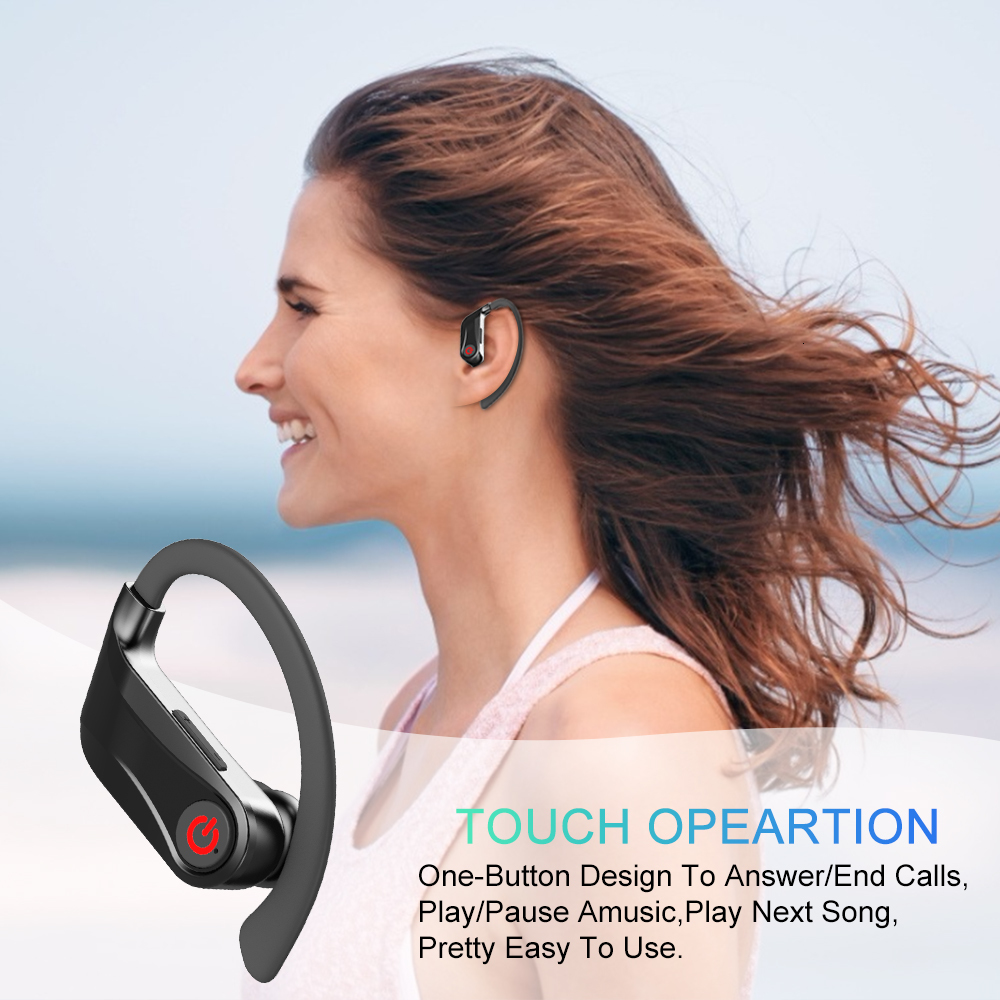 cheapest HBQ PRO TWS Wireless Earphone Bluetooth 5 0 Stereo Sport Headphones Case 950mah Waterproof Ear Hook Headsets MIC PK Q32 Q62