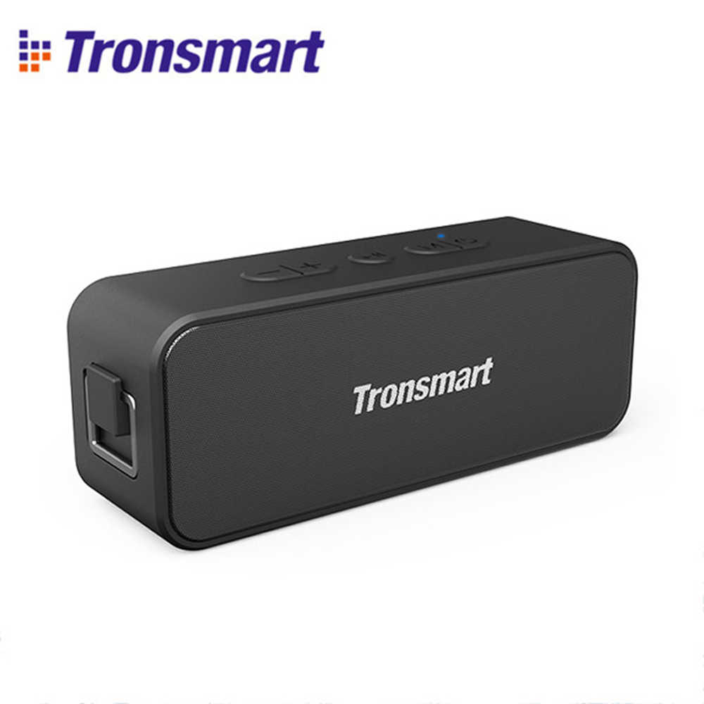 Tronsmart T2 Plus Bluetooth 5.0 Speaker 20W Portable Speaker 24H Kolom Deep Bass IPX7 Tahan Air Soundbar + Tws, voice Assistant