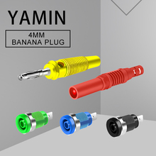 4mm Banana Plug Socket Pure Copper High Voltage Lantern Type No-welding Screw 32A 600V