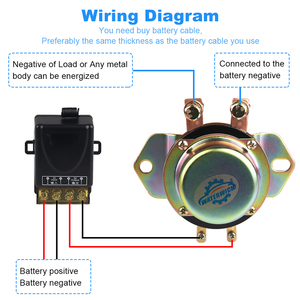 Image 5 - Car Battery Isolator Switch Car Vehicle Electromagnetic Latching Relay 100A 12v Remote Control Battery Disconnect Cut Off 10 15v