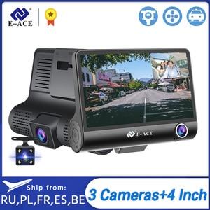 E-ACE Car Dvr 4.0 Inch Dash Cam FHD 1080P Video Recorder Car Camera Auto Dashcam With Rear View Camera Registrator Dvrs(China)