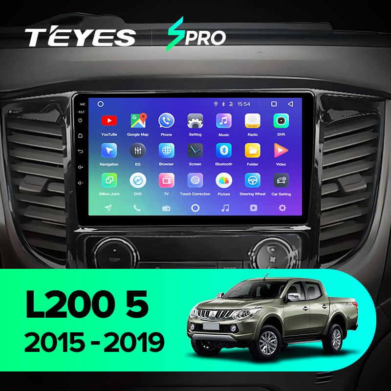 Teyes spro三菱L200 5 2015 - 2019 カーラジオマルチメディアビデオプレーヤーナビゲーションgpsアンドロイド 8.1 なし 2din 2 din dvd