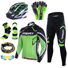 Bicycle Jersey Bike-Clothing Sportswear Padded Long-Sleeves-Set Mtb Breathable Pro 3D