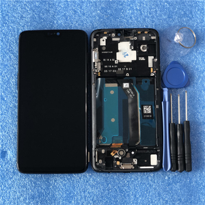 """Image 5 - 6.28"""" Original Super Amoled Axisinternational For OnePlus 6 Oneplus 6 LCD Display Screen  With Frame+Touch Panel Digitizer"""