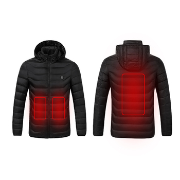 High Quality Heated Jackets Vest Down Cotton Mens Women Outdoor Coat USB Electric Heating Hooded Jackets Warm Winter ThermalCoat 2