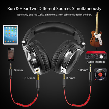 Oneodio Over Ear Headphones Hifi Studio DJ Headphone Wired Monitor Music Gaming Headset Earphone For Phone Computer PC With Mic 4