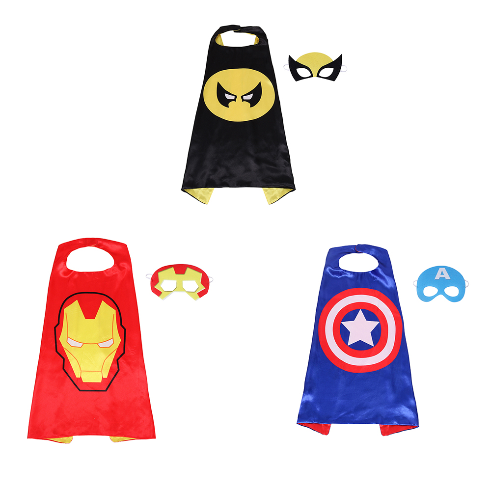 Kids Cloak Cosplay Halloween Childrens Costumes Mask Festival Superhero Clothes Anime Children PY01