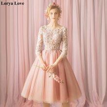 Розовые платья для выпускного вечера illuson 2020 Короткие Формальные
