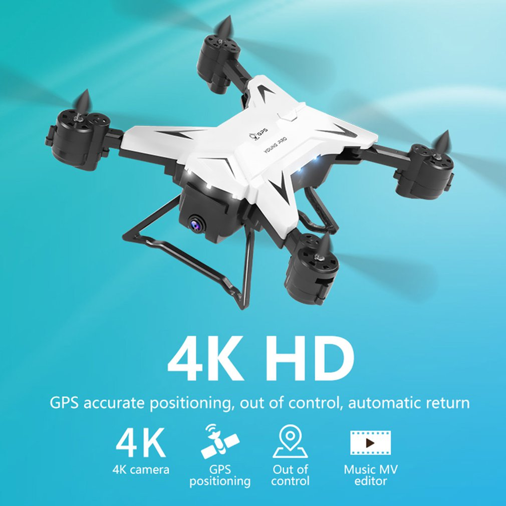 KY601G 5G WiFi Drone Remote Control FPV Drone 4-Axis GPS Aerial Toy Foldable Aircraft Gesture Photo Video RC Helicopter image