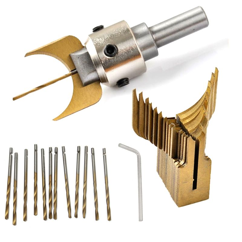 Carbide Ball Bits Blade Woodworking Milling Cutter Molding Tool Buddha Beads Router Bit Drills Set