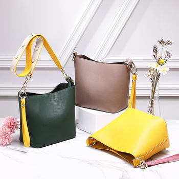 WOMEN'S Bag Leather New Style Fashion Handbag Shoulder Bag   Large Capacity Bucket Bag