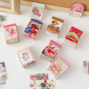 99pcs/lot Memo Pads Sticky Notes Vintage animals Strawberry paper Junk Journal Scrapbooking Stickers Office School stationery