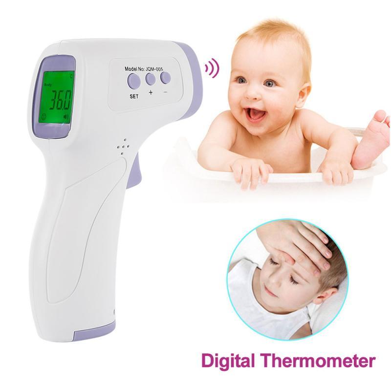 Цифровой инфракрасный термометр для детей/взрослых бесконтактный термометр для тела лба и уха пистолет для измерения температуры тела взр...