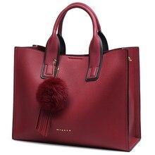 MIYACO Women Bag Leather Handbag Designer Tote Bags Female E