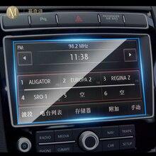 Película de navegación GPS para coche para Volkswagen Touareg, película protectora de vidrio templado, antiarañazos, 2011, 8 pulgadas, 2018 6,5