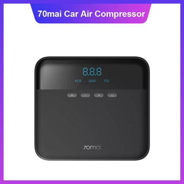 Original 70mai Air Compressor Lite Fast Inflatable Pump Tire Inflator 12V Portable Electric Digital Air Pump for Car Motorcycles