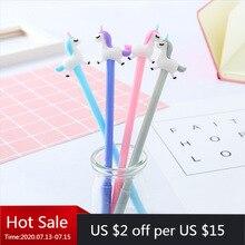 ¡Novedad! Papelería creativa de 40 Uds., bolígrafo Neutral pequeño con dibujo de Pegaso, bolígrafo negro de aguja completa para escribir