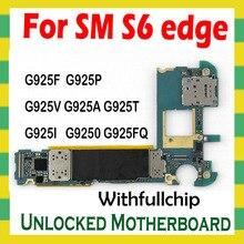 האם מקורי עבור סמסונג גלקסי S6 קצה G925F G925A G925FQ G925I G925P G925T G925V G9250 סמארטפון Mainboard לוח ההיגיון