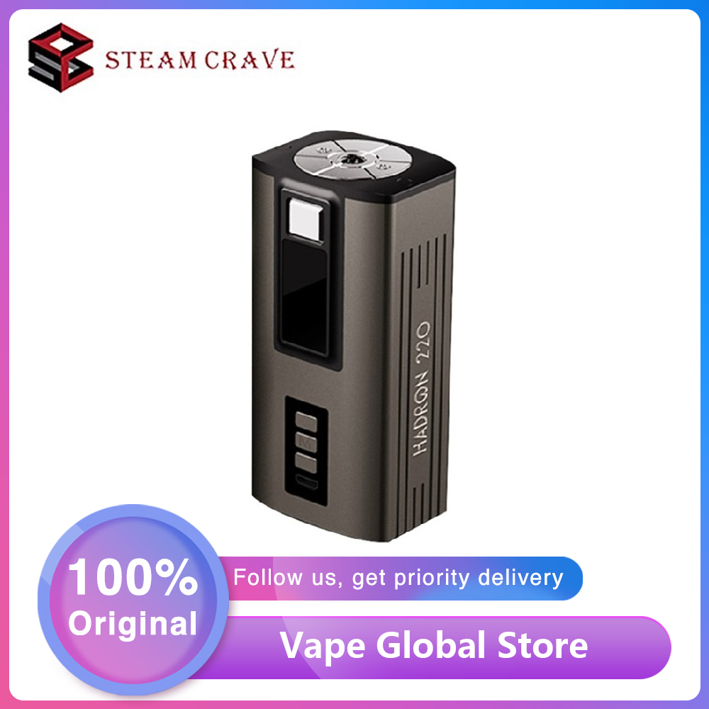 Original Steam Crave HADRON 220 YIHI Chip Box MOD Power By 21700 Battery Max 200W Huge Power Mod Vs Drag 2/ Steam Crave Titan