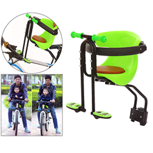 Front Mounted Baby Bike Seat Universal Kids Bike Seat for Children Front Mount Bike Child Seats Safety Seat Carrier w/ Handrail