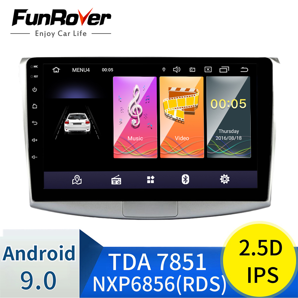 Funrover 2.5D+IPS Car radio Multimedia dvd player Android 9.0 Navigation GPS for Volkswagen Passat B6 B7 CC <font><b>Magotan</b></font> 2011-2015 image