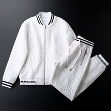 Sports Suit Women Trousers Sweater Cardigan Two-Piece Same-Style Casual And Autumn Knitted-Texture