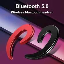 Y12 1pc sem fio bluetooth osso condution earhook com microfone motorista do carro fone de ouvido bluetooth inteligente ruído esportes fone de ouvido
