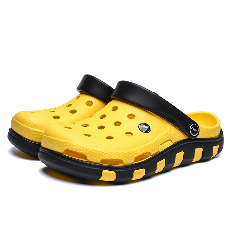 Summer Comfortable Men's Garden Clogs Breathable EVA Injection Shoes Casual Sandal Woman Beach Slippers Water Shoes Crocse Cheap