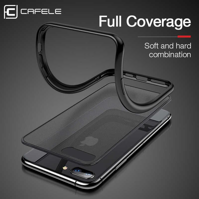 CAFELE 2019 最新のカラー衝突ケースのための iphone 7 8 プラスシリコン + PC 半透明ケースのための iphone 7 8 プラス